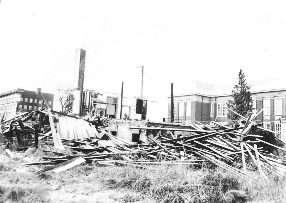 Jackson Street side of area before Mau Dan was built, in front of Lord Strathcona School, circa 1967.
